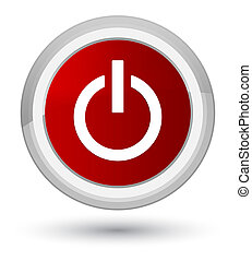 Power icon prime red round button