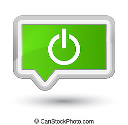 Power icon prime soft green banner button