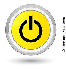 Power icon prime yellow round button