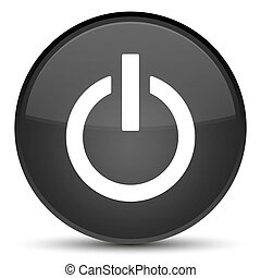 Power icon special black round button