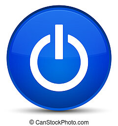 Power icon special blue round button