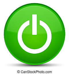 Power icon special green round button