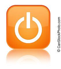 Power icon special orange square button