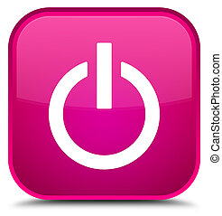Power icon special pink square button