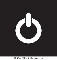 power Icon Vector Illustration on the white background.