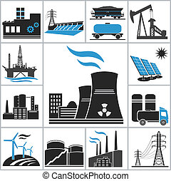 Power icons. Vector set for you design