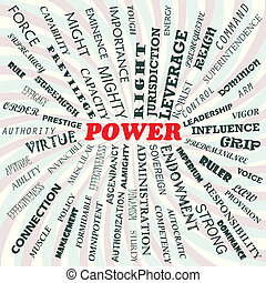 power - illustration of power concept.