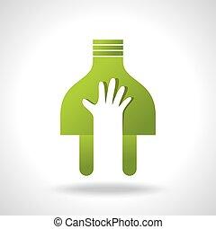 power in hand, green idea