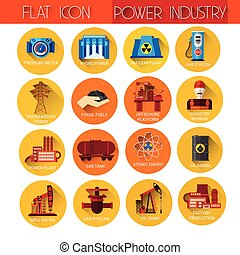 Power Industry Collection Icon Set