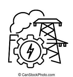 power industry illustration design
