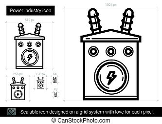 Power industry line icon.