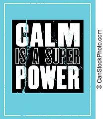 power., inspirer, affiche, concept., texte, motivation, ...