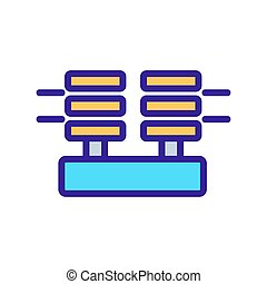 power insulators icon vector. power insulators sign. color symbol illustration