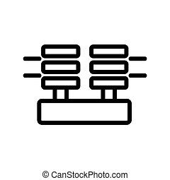 power insulators icon vector. power insulators sign. isolated contour symbol illustration