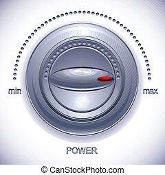 Power Knob calibration. - Power Knob calibration, vector...