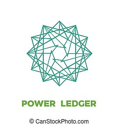 Power Ledger Cryptocurrency Coin Sign Isolated
