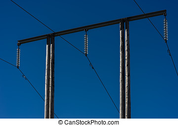 Power line in Norway background