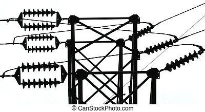 Electrical transmission line insulators and tower