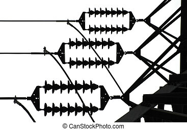 Electrical transmission line resistors in silhouette