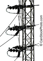 Power line - Part of electrical tower and transmission lines