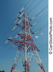 Power line - the new power line in Kornik (Poland)