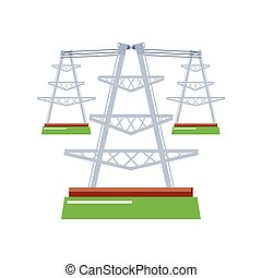 power lines and electric pylons energy