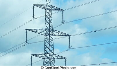 Power Lines And Transmission Tower In The Daytime - Big ...