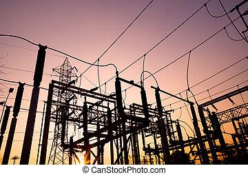 Power lines at Santiago de Chile