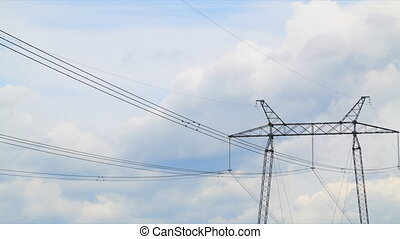 Power lines timelapse