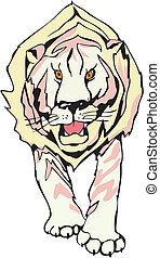 Power lion design - A lion looking ahead. Vinyl-ready EPS...