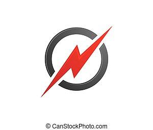 Power Logo Template vector icon