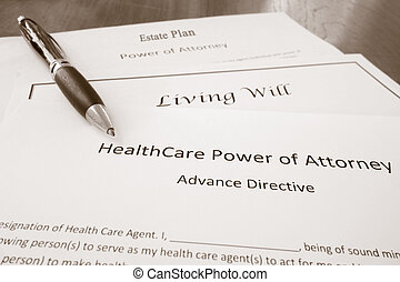 Power of Attorney, Estate Plan and Living Will - Healthcare...