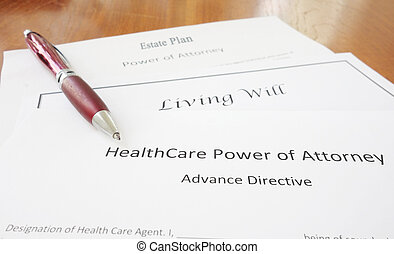 Power of Attorney, Living Will and Estate plan - Healthcare...