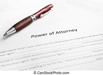 Power of Attorney paperwork - Power of Attorney legal...