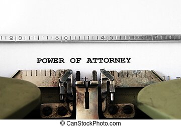 Power of attorney
