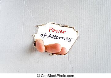 Power of attorney Text Concept - Power of attorney text...