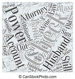 power of attorney Word Cloud Concept