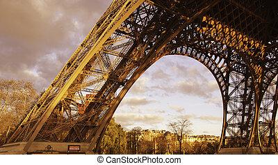 Power of Eiffel Tower in Paris