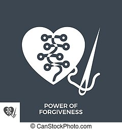 Power of Forgiveness Glyph Vector Icon.