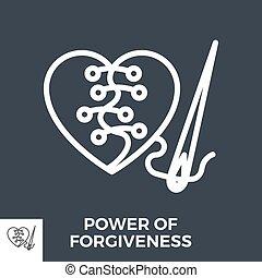 Power of forgiveness - Power of Forgiveness Thin Line Vector...