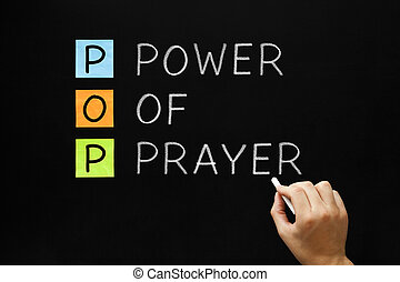 Power of Prayer - Hand writing POP - Power Of Prayer with...