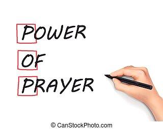 Power Of Prayer written by hand