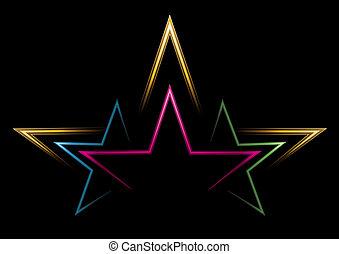 Power of stars  - Three stars inside another bigger star