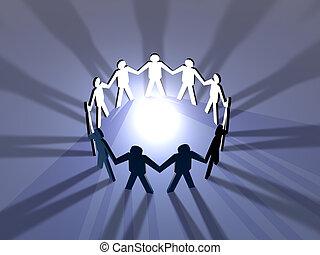 Power of Teamwork 2 - 3D Illustration symbolizing the Power...