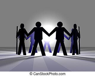 Power of Teamwork 3 - 3D Illustration symbolizing the Power ...