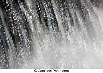 Power of water - A very fast and plentiful flow of water...