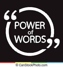 POWER of WORDS lettering Illustration design