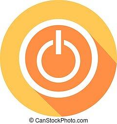 power on button flat icon