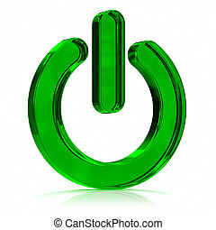 Power On Green Icon - Green Power