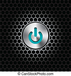 Power On or Off Button - vector illustration of an on or off...